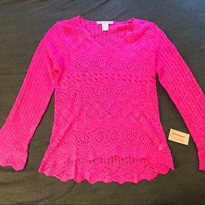 Bright pink sweater